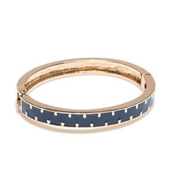 crown & ivy Jewelry - Crown & Ivy Bangle Bracelet NWT NavyGold Polka Dot
